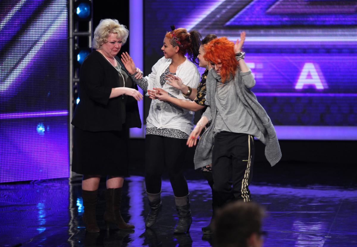 Małgorzata Stankiewicz, Kasia Brzostek, Carolina Teophile i Marina Milov na eliminacjach